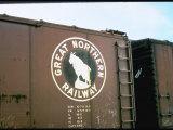 Railroad Box Car W the Logo of the Great Northern Railway