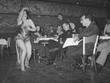 Woman Doing a Strip Tease at a Night Club