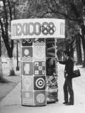 Information Booth for Olympic Games in Mexico City 1968