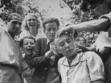 Female French Collaborator Having Her Head Shaved During Liberation of Marseilles