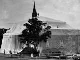 Kunsthalle Art Museum Wrapped in Plastic by Sculptor Christo Javacheff