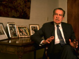 Former Pres Richard Nixon During Time Interview in His Office