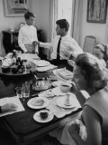 Attorney General Robert F Kennedy and His Family Sharing Breakfast