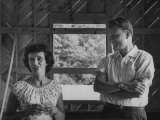 Billy Graham and His Wife Admiring their New House  Which Is under Construction