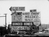 Sign Advertising Homes with No Down Payment for War Veterans