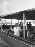 Pres Harry S Truman on His Yacht Williamsburg During Trip to West Indies