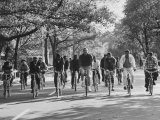 Date Unknownmayor John V Lindsay Biking in Central Park