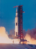 Apollo 13 Spacecraft Lifting Off from Lauch Pad a at Cape Kennedy Space Center