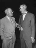 Pres Harry S Truman Talking to Dean Acheson