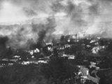 Scene of Fire Ranges in Bel-Air Section of Los Angeles