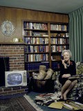 Senator Margaret Chase Smith in Her Home  Talking on the Telephone