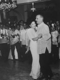 Pres Lyndon B Johnson Dancing with Mrs Ferdinand Marcos