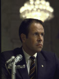 Wh Chief of Staff H R Haldeman Testifying at Watergate Hearings