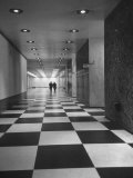 Main Lobby of the Un Building Made of Black and White Marble Chips