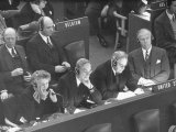 Representatives Attending a United Nations' Meeting About Berlin Blockade Cases
