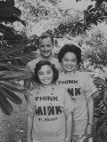 Newly-Elected Congresswoman Patsy Mink with Her Husband and Daughter