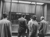 Brokers and Investors Checking the Latest from the Stock Exchange
