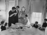 Robert F Kennedy and His Wife Preparing Son Michael  for Baptism