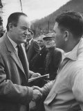 Hubert Humphrey Campaigning in West Virginia Primarties