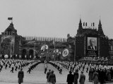 Russians Celeberating Anniversary Parade in Red Square