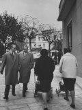 Prime Minister Constantine Karamanlis Strolling Down the Street