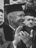 Pres Dwight D Eisenhower Receiving Honorary Degree at Notre Dame