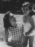 Ana Belen in Garden with Mother Carmen Ordonez