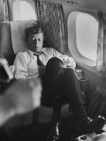 Sen John F Kennedy on His Private Plane During His Presidential Campaign
