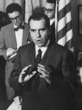 Richard M Nixon at First Formal Press Conference in White House