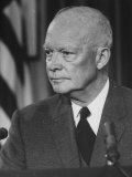 Pres Dwight D Eisenhower Giving TV Speech after His Return from the Orient