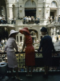 Dior Models in Soviet Union for Officially Sanctioned Fashion Show Visiting Gum Deptartment Store