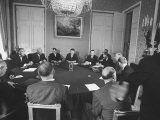 President Dwight D Eisenhower with Others During Summit Conference
