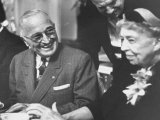 Former President Harry S Truman Talking with Mrs Franklin D Roosevelt