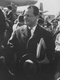 Mayor of West Berlin Willy Brandt Arriving in the Us
