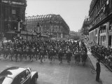 Pres Dwight D Eisenhower's Motorcade in Paris