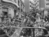 Gen Charles Degaulle Riding Through Street in Algiers