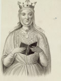 Undated Depiction of Eleanor of Aquitaine  Queen of English King Henry Ii