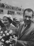 Richard M Nixon with His Wife at their Arrival at Houston Int'L Airport