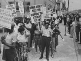 Negro Civil Rights Demonstration Outside Gop Convention Hall