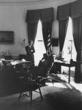 Pres John F Kennedy and Attorney Gen Robert F Kennedy Conferring in the Oval Office