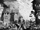 Citizens Running for their Lives During Great Fire