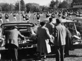 Tailgate Picnic for Spectators at Amherst College Prior to Football Game