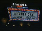 Sahara Sign Advertising Dennis Day Las Vegas  1955