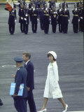 Pres John Kennedy and Wife Jacqueline During a State Visit to Mexico