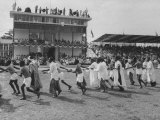 Pre-Independence Pageant at Race Track of Lagos  the Capitol
