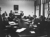 Pres John F Kennedy and Cabinet During Steel Crisis in the Cabinet Room