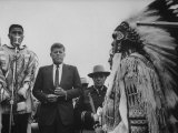 John F Kennedy with Indians