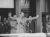 Gen Charles Degaulle Speaking to Crowd in Algiers