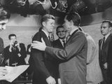 Presidential Candidate John F Kennedy Speaking to Fellow Candidate Richard M Nixon