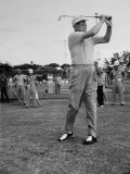 Pres Dwight D Eisenhower Playing Golf at Marine Corps Golf Course